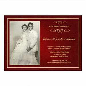 ruby wedding anniversary invitations 40th 13 cm x 18 cm With cheap 40th wedding anniversary invitations