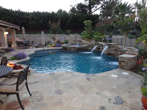 entertainment pool and spa patio gemini 2 landscape