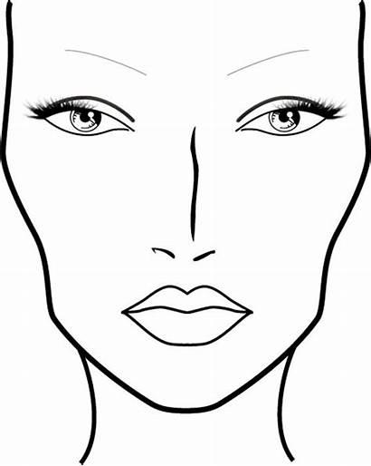 Face Printable Charts Makeup Blank Mac Coloring