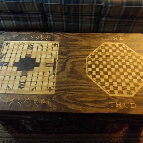 Coffee tables are for not reading material upvoted why isn t your table a covert game console insidehook working arcade my neighbor makes these album man cave home bar functional nes controller aday the arcane conceals. Game Board Coffee Table - RYOBI Nation Projects