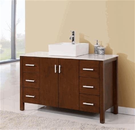 48 inch vessel sink vanity 48 inch bathroom vanity vessel sink top style walnut color