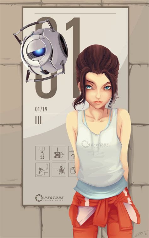 Portal Chell Fan Art Created By Ushiwaka Games