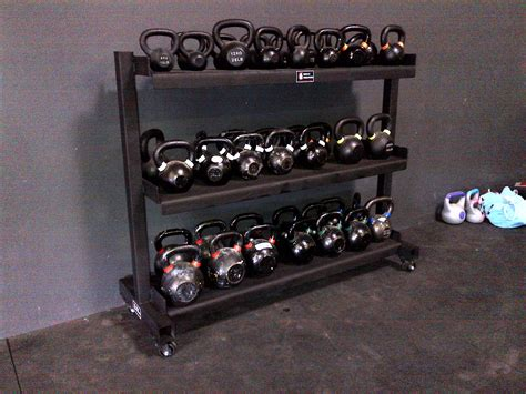 kettlebell rack storage racks crossfit kb ball roman
