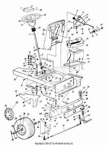 Mtd 143v834h401  1993  Parts Diagram For Steering Assembly