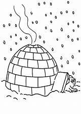 Igloo Coloring Shelter Take Under Eskimo Bulk Bulkcolor Template Fruit Drawing Doghousemusic sketch template