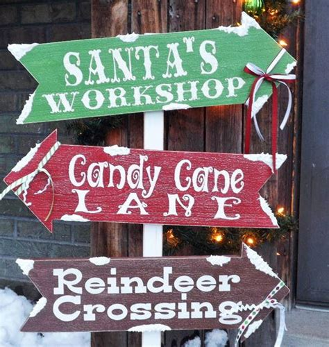 santas village diy outdoor sign allfreechristmascraftscom