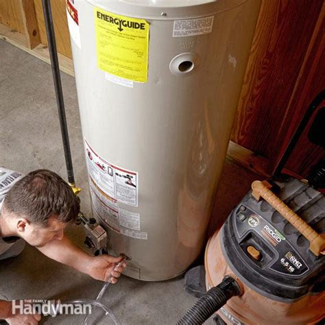 How To Flush A Water Heater  The Family Handyman