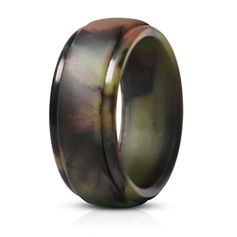 saco band silicone rings for men single rubber wedding bands shiny bronze 8 5 9 9mm