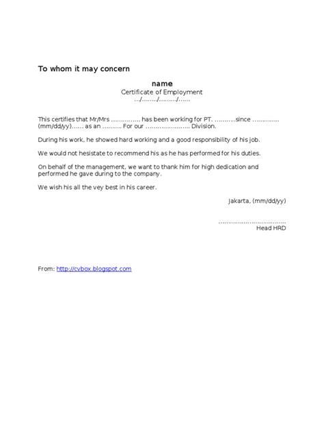 contoh surat bahasa inggris tentang pengalaman contoh surat pengalaman kerja referensi paklaring