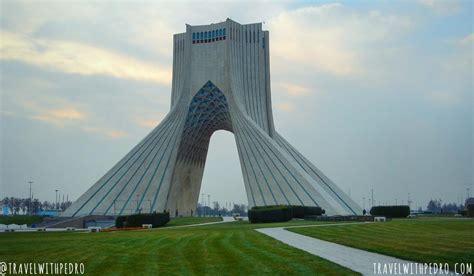 azadi tower tehrans  famous landmark travel  pedro