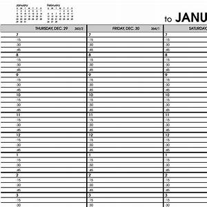 at a glance printable hourly calendars search results With hourly appointment calendar template
