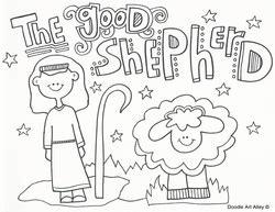 Jesus The Good Shepherd Coloring Pages - Costumepartyrun