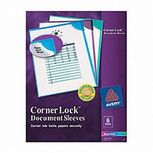 averyr corner locktm high capacity document sleeves With avery document sleeves