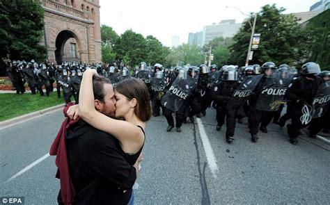summit protests turn violent