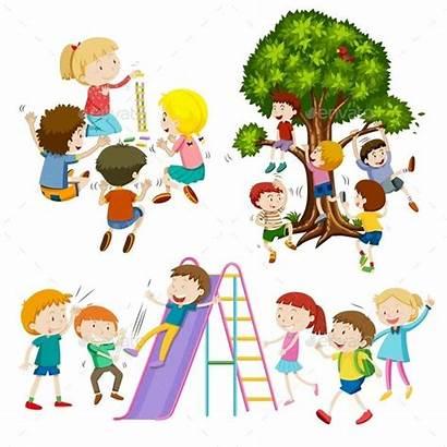 Bambini Giocano Che Disegni Disegno Children Playing