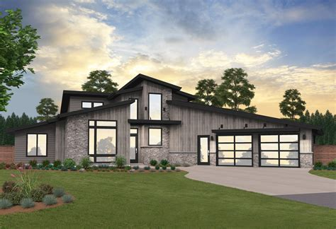 Soure Point House Plan Modern Two Story Home Design w/2
