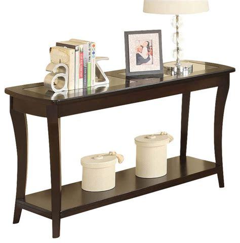 riverside furniture console table riverside furniture annandale sofa table in dark mahogany