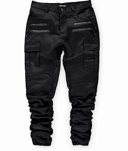American Stitch Black Twill Cargo Bungee Jogger Pants