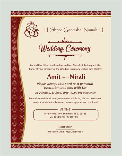 kankotri card template   wedding card design