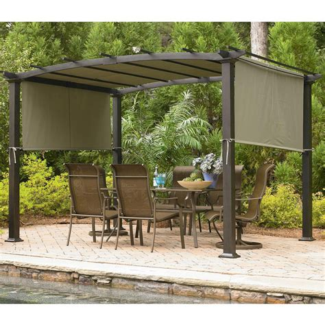 Martha Stewart Living Replacement Patio Cushions by Sears Garden Oasis Curved Pergola Replacement Canopy Gf