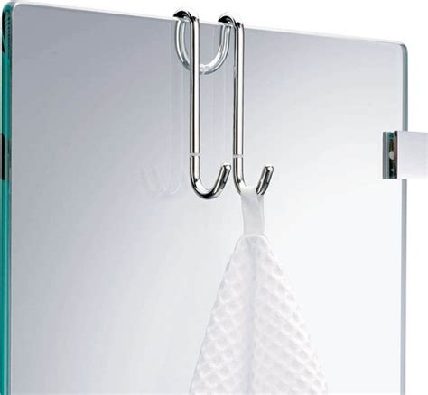 harmony hang  hook chrome contemporary robe towel