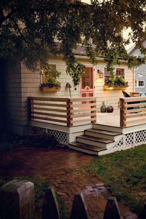 horizontal deck railing deck contemporary