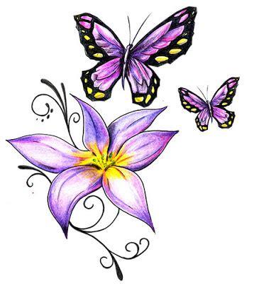 Baú da Web: Desenhos de flores para Tatoos Tatuagens