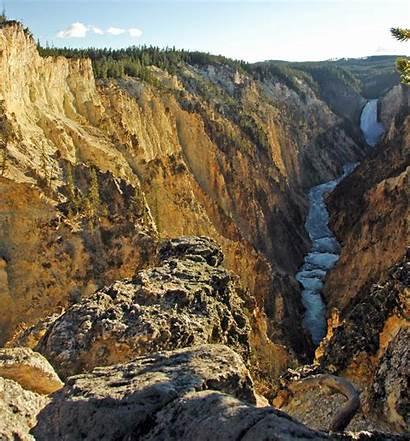 Yellowstone Canyon Grand Wyoming River Usa Commons