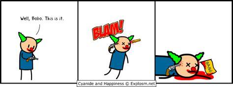 Cyanide And Happiness Clown Suicide Gun Comics