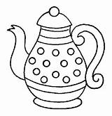 Coloring Pages Tea Party Site sketch template