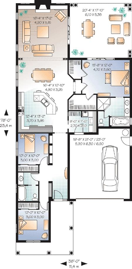 house plans for a narrow lot ideas photo gallery narrow lot florida house plan 21650dr 1st floor master