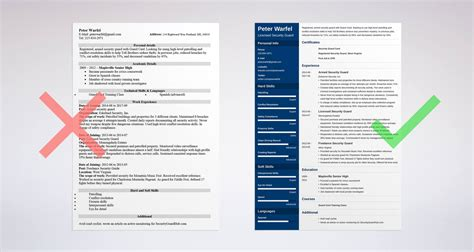 security guard resume sle complete guide 20 exles
