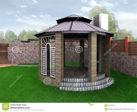 al s garden center landscape design garden alcove 3d render stock