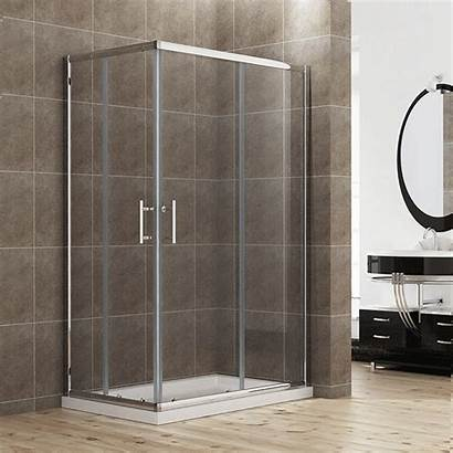 Shower Walk Double Entry Door Sliding Corner