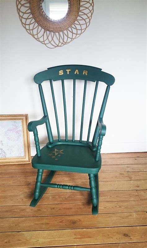 rocking chair vintage vert emeraude de la boutique