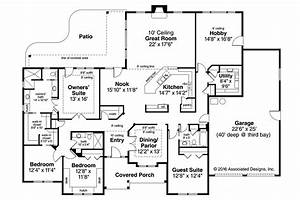 4 Bedroom Ranch Style Homescountry Ranch House Plan Plans ...