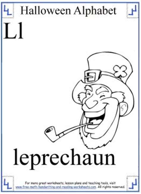 halloween coloring sheets phonetic alphabet  p