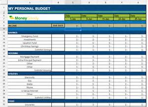 Monthly Budget Excel Spreadsheet Free Monthly Budget Spreadsheet Goody