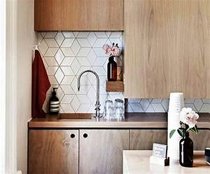Geometric tiles - Midcentury - Kitchen - auckland - by