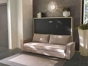 Lit Avec Armoire : lit dans une armoire lit relevable avec rangement literie ~ Teatrodelosmanantiales.com Idées de Décoration