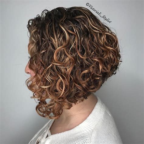 curly angled bob hairstyles 65 different versions of curly bob hairstyle in 2019