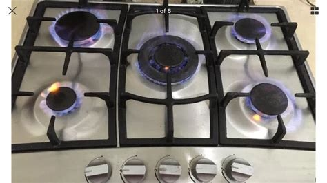 spider burners lamona 5 ring gas hob spider burners in saltash