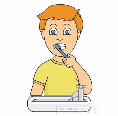 Teeth Brushing Brush Clipart Boy Animation Animated
