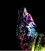 download next art prev art  Colorful Wolf Painting
