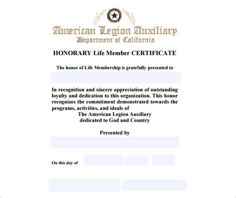 life membership certificate template templates data