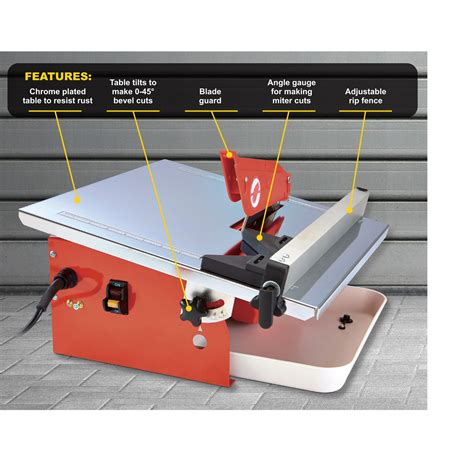 tile saw harbor freight 7 quot portable cutting tile saw