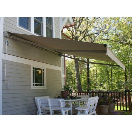 perfect shade protector    ft motorized semi cassette retractable awning walmartcom