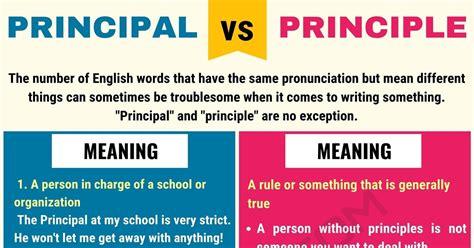 PRINCIPAL Vs PRINCIPLE: Difference Between Principle Vs ...