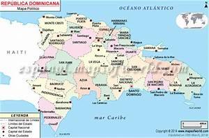 Mapa Republica Dominicana , Mapa de La Republica Dominicana