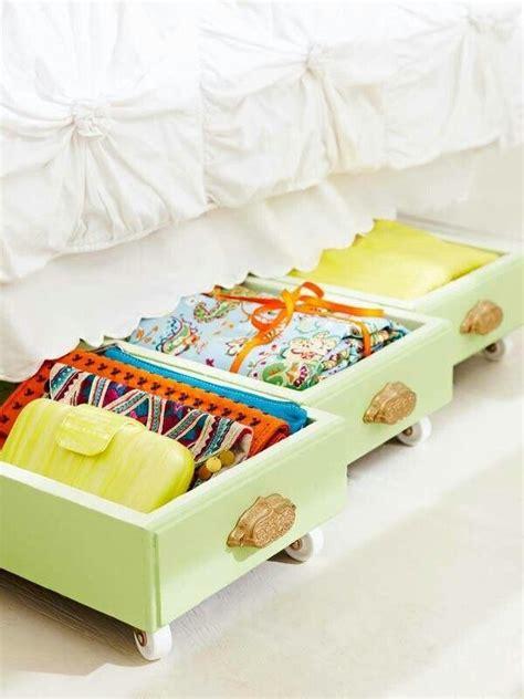 creative  bed storage ideas  idea room